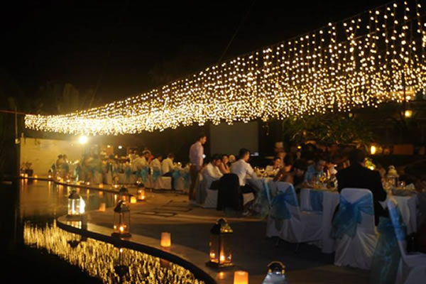 Fairy Light Reception Nikah