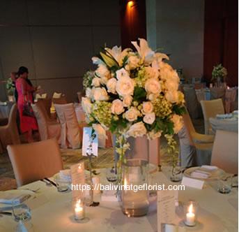 Flower Centerpiece Round Table