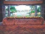 Bridal flower centerpiece sofitel nusa dua