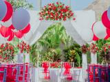 Pergola set up muslim wedding
