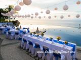 dinner reception decoration-blue point