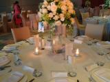 round table centerpiece at Gambelan ball room