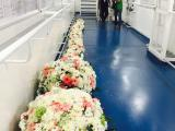 flower arrangement for cruiship in Bali