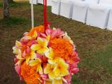 Standing flower ball along the aisle