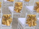 tiffany chairs dengan gold ribbon