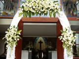 arch flower - FX church Bali