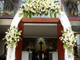 arch flower - FX church Bali
